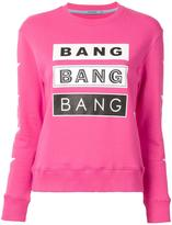 GUILD PRIME 'bang' print sweatshirt - women - Cotton - 34