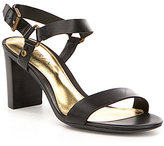 Lauren Ralph Lauren Harri City Leather Banded Ankle Strap Sandals