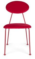 Bold Monkey Upholstered Side Chair Upholstery Color: Red