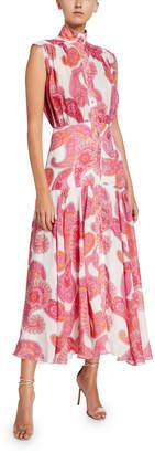 Zimmermann Peggy Paisley-Print Sleeveless Shirtdress