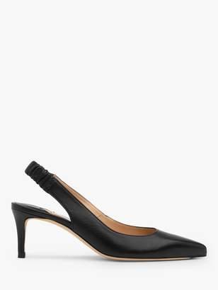 LK Bennett L.K.Bennett Irena Leather Stiletto Slingback Court Shoes