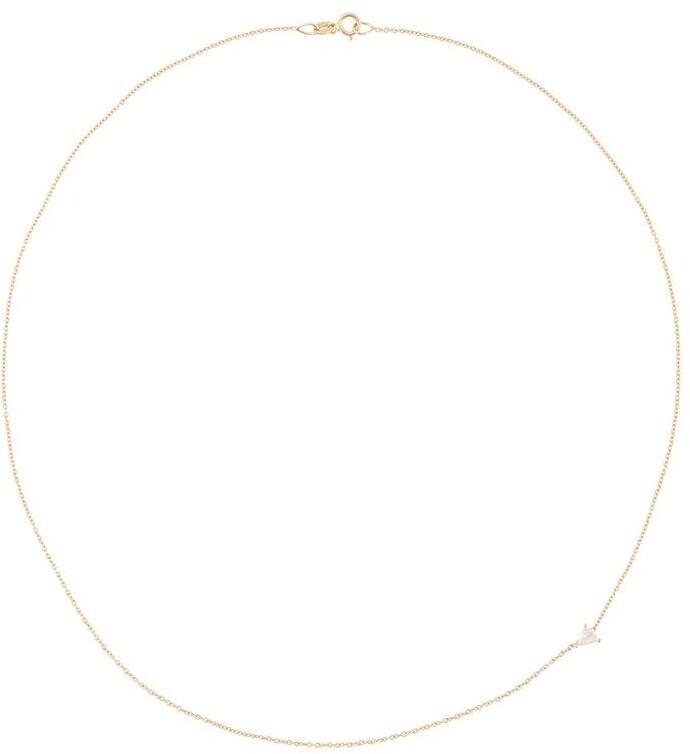 Lizzie Mandler Fine Jewelry 18kt Gold Floating Triangle Diamond Necklace
