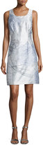 Kay Unger New York Print Cocktail Dress, Mint/Multi