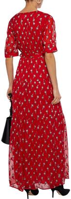 BA&SH Madonna Fil Coupe Silk-blend Georgette Maxi Wrap Dress