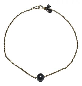 Les Nereides Grey Gold plated Necklaces