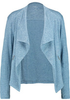 Majestic Draped Linen And Silk-Blend Jersey Jacket