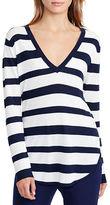 Lauren Ralph Lauren Petite Striped Silk-Blend Sweater