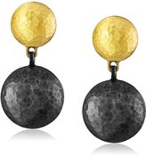 "Gurhan Lentil"" Silver with High Karat Gold Accents Earrings"