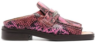 Martine Rose Snakeskin Effect Sandals