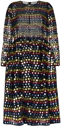 Ashish Sequinned Midi Dress