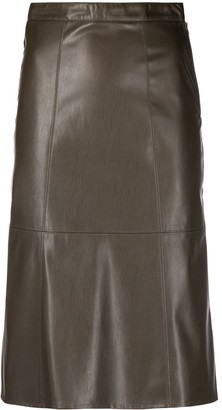 Patrizia Pepe Faux Leather Pencil Skirt