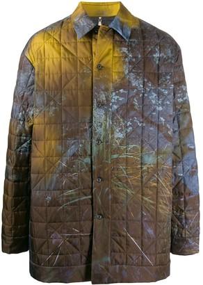 Oamc Foliage Print Coat