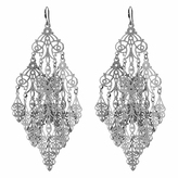Amrita Singh Silvertone Gabrielle Drop Earrings