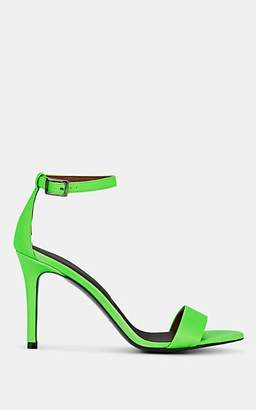Barneys New York Women's Leather Ankle-Strap Sandals - Green