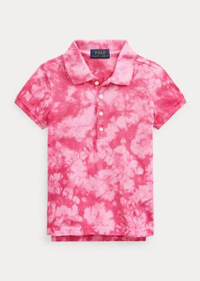 Ralph Lauren Tie-Dye Mesh Polo Shirt