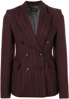 Isabel Marant Kelsey preppy pinstripe blazer - women - Cotton/Linen/Flax/Viscose/Virgin Wool - 36