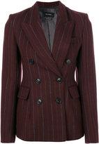 Isabel Marant Kelsey preppy pinstripe blazer - women - Cotton/Linen/Flax/Viscose/Virgin Wool - 38