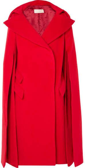 Antonio Berardi Cape-effect Wool And Mohair-blend Coat - Red