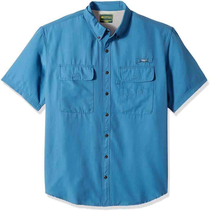 G.H. Bass Men's Big and Tall Explorer Charter Short Sleeve Button Down Shirt