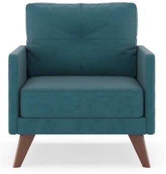 Corrigan Studio Croskey Armchair Fabric: Aegean Blue, Leg Color: Black