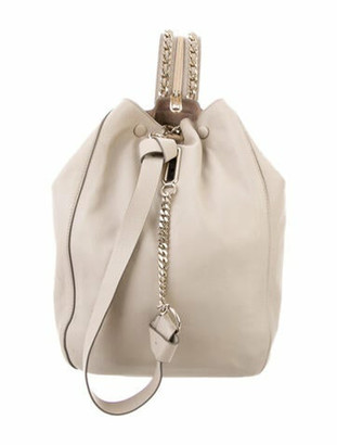 Jimmy Choo Leather Sling Backpack Gold