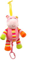 Colorful Hippo Pull-String Toy