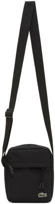 Lacoste Black Canvas Neocroc Bag