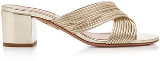 Aquazzura Perugia Cross-Strap Sandals