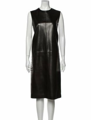Hermes Vintage Midi Length Dress Brown