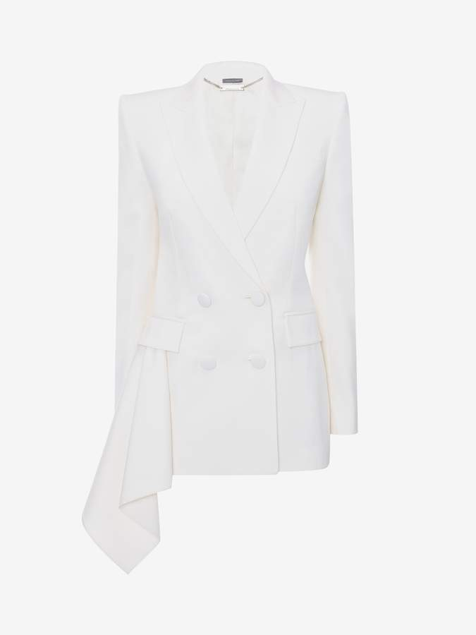 Alexander McQueen Tuxedo Drape Jacket