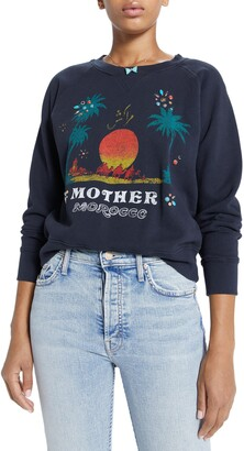 Mother The Square Embellished Morocco Graphic Sweatshirt