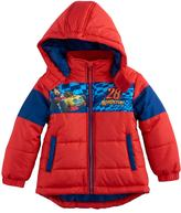 """Disney Disney's Mickey & The Roadster Raxcers Mickey Mouse Toddler Boy """"Rev Up"""" Puffer Heavyweight Jacket"""