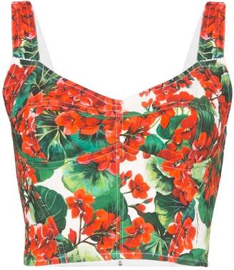 Dolce & Gabbana Cady geranium bustier top