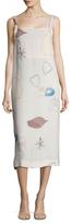 ADAM by Adam Lippes Printed Tie Back Midi Dress