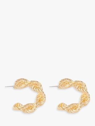 Susan Caplan Vintage Gold Plated Chunky Rope Hoop Earrings, Gold