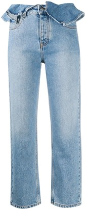 MSGM Ruffled Waist Jeans
