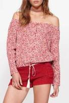 MinkPink Long Sleeve Off-Shoulder Blouse