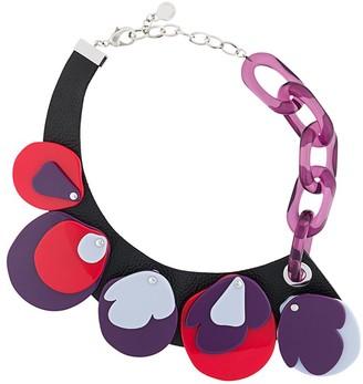 Emporio Armani asymmetric acrylic necklace