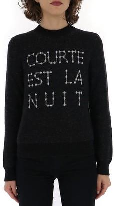 Saint Laurent Slogan Knitted Sweatshirt