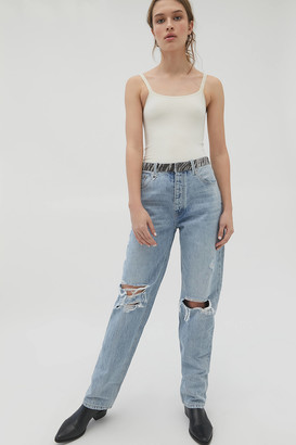 Neon Blonde Lazy Lover High-Waisted Jean