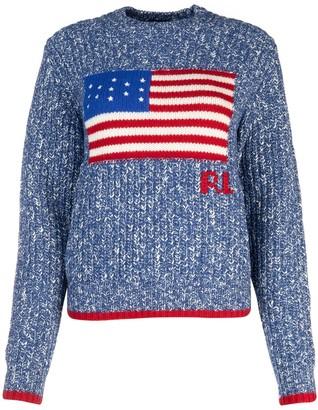 Polo Ralph Lauren American Flag Intarsia Sweater