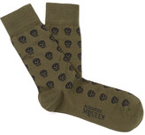 Alexander McQueen Skull-patterned Cotton-blend Jacquard Socks