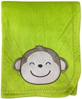 Kids Line Carter's Textured Embroidered Velour Blanket, Green/Yellow Safari by Carter's