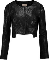 Temperley London Majorelle cropped embossed leather jacket