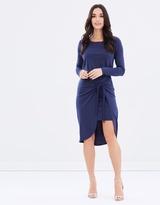 Drusilla Jersey Wrap Tie Dress