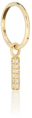 Maria Tash 18kt Gold Single Hoop Earring With Diamonds