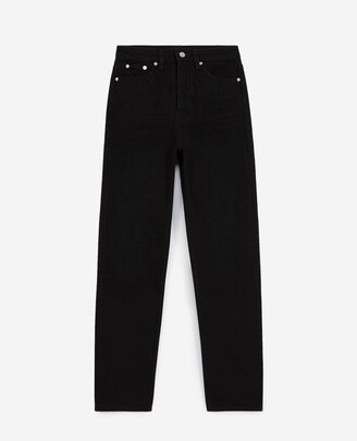 The Kooples Straight-cut black jeans with high waist