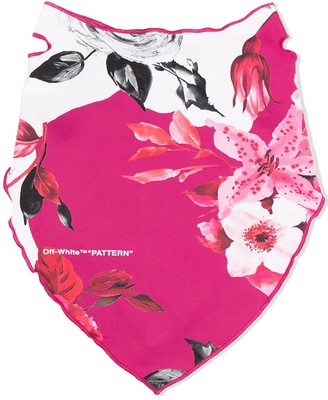 Off-White Floral Print Bandana Mask