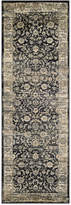 "Couristan Closeout! Haraz HAR1142 Black 2'7"" x 7'10"" Runner Rug"