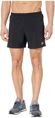 New Balance Impact Run 5-Inch Shorts (Black) Men's Shorts
